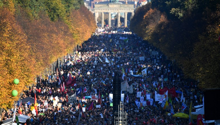 Anti-far right protest in Berlin attracts more than 240000, say organisers