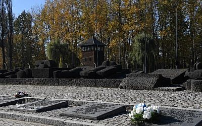 View taken on October 14, 2018. shows the monument commemorating victims of German-Nazi death camp in Auschwitz-Birkenau (Janek SKARZYNSKI / AFP)