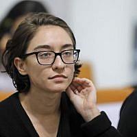 US student Lara Alqasem attends a hearing at the Supreme Court in Jerusalem on October 17, 2018. (Photo by Menahem KAHANA / AFP)