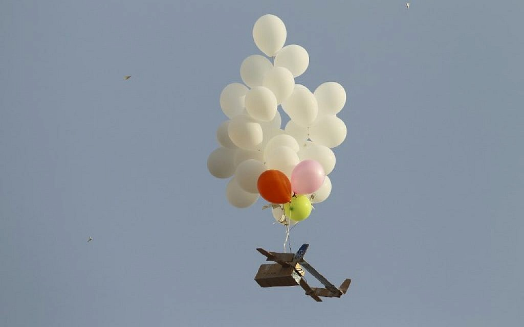 Suspected incendiary device tied to balloon cluster lands in IDF base