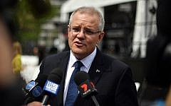 Australia's Prime Minister Scott Morrison speaks to media after the official opening of the refurbished ANZAC Memorial in Sydney on October 20, 2018 (Saeed KHAN / AFP)