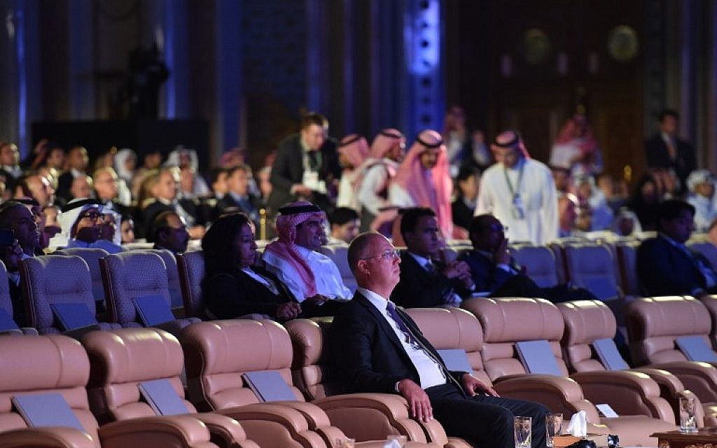 Kirill Dmitriev, CEO of Russian Direct Investment Fund attends the three-day Future Investment Initiative in the capital of Riyadh on October 23, 2018. (FAYEZ NURELDINE / AFP)