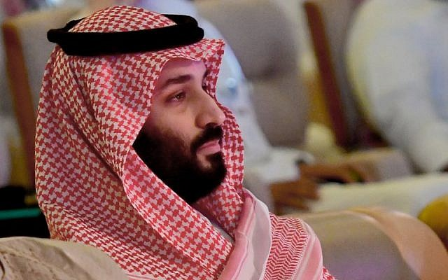 Saudi Crown Prince Mohammed bin Salman attends the Future Investment Initiative conference in the Saudi capital Riyadh on October 24, 2018. (Giuseppe Cacace/AFP)