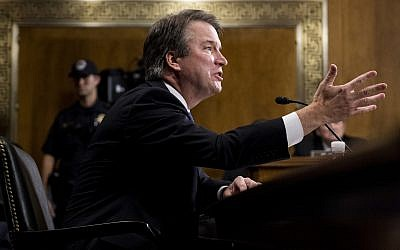 US Supreme Court nominee Judge Brett Kavanaugh testifies during a Senate Judiciary Committee hearing on September 27, 2018, on Capitol Hill in Washington. (Tom Williams/Pool Image via AP)