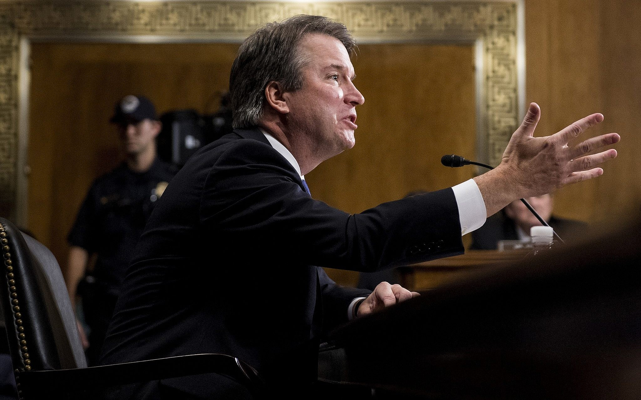 2d10256c262e US Supreme Court nominee Judge Brett Kavanaugh testifies during a Senate  Judiciary Committee hearing on September