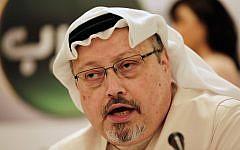 In this February 1, 2015, photo, Saudi journalist Jamal Khashoggi speaks during a press conference in Manama, Bahrain. (AP Photo/Hasan Jamali)
