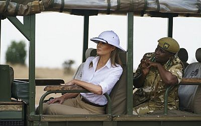 Twitter Users Gag Over Melania Trump's Clueless Colonial Pith Helmet In Africa
