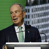 Michael Bloomberg speaks during the plenary session of the Global Action Climate Summit in San Francisco, September 13, 2018. (AP Photo/Eric Risberg, File)