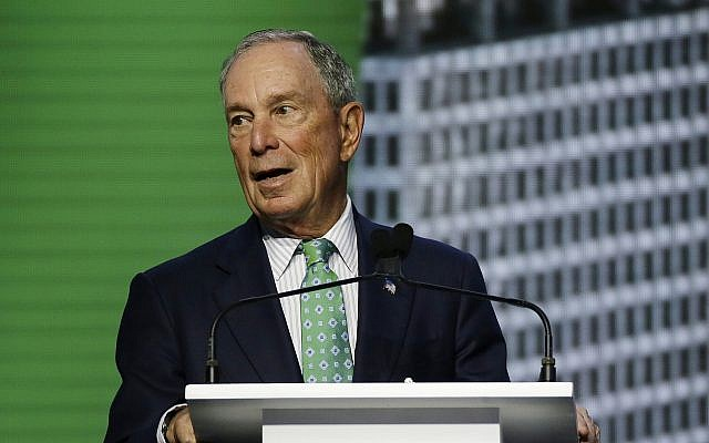 In this September 13, 2018 file photo, Michael Bloomberg, the UN Secretary-General's Special Envoy for Climate Action, speaks during the plenary session of the Global Action Climate Summit in San Francisco. (AP Photo/Eric Risberg, File)