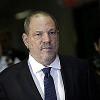 Harvey Weinstein enters State Supreme Court, October 11, 2018, in New York. (AP Photo/Mark Lennihan)