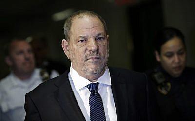 Harvey Weinstein enters State Supreme Court, October 11, 2018, in New York. (AP Photo/Mark Lennihan)