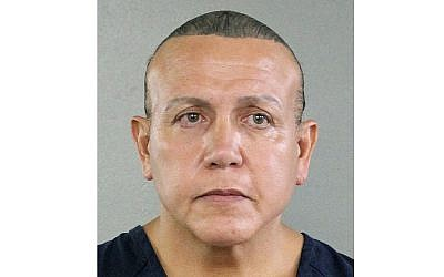 In this undated photo released by the Broward County Sheriff's office, mail bomb suspect Cesar Sayoc is seen in a booking photo in Miami. (Broward County Sheriff's Office via AP)