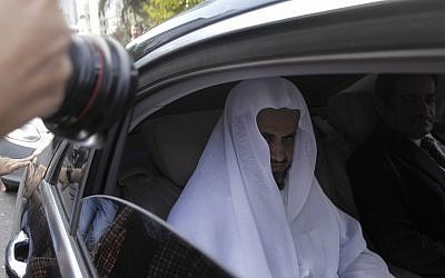 Saudi Arabia's top prosecutor Saud al-Mojeb leaves his country's consulate in Istanbul, October 30, 2018. (Can Erok/DHA via AP)