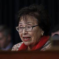 Democrat Senator for New York Nita Lowey speaks during a House Appropriations subcommittee hearing on budget on Capitol Hill in Washington, March 6, 2018. (Carolyn Kaster/AP)