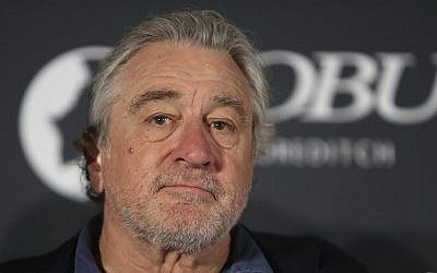 Actor and director Robert De Niro at the Nobu Shoreditch hotel in London, May 15, 2018, attends a press conference at the hotel's official launch. (AP Photo/Alastair Grant)