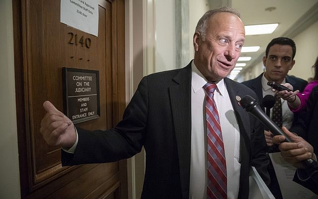 Republican Representative Steve King of Iowa on Capitol Hill in Washington, on June 27, 2018. (AP/J. Scott Applewhite)