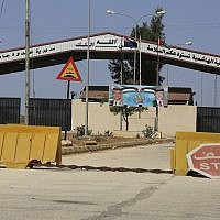 A Syrian-Jordanian border crossing that was closed for more than three years after a takeover of the Syrian side by rebels, on September 29, 2018. (AP Photo/Raad Adayleh)