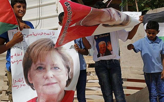 Merkel Heads To Israel Amid Deep Disagreements Over Palestinians Iran The Times Of Israel
