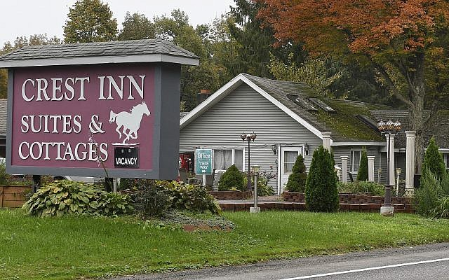 The Crest Inn Suites & Cottages outside Saratoga Springs, New York on October 9, 2018. The location is also the business address for Prestige Limousine service involved in tha fatal crash in Schoharie, New York that killed 20 people owned by Shahed Hussain. (AP Photo/Hans Pennink)
