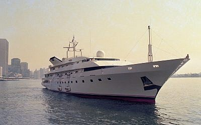 FILE - This is a July 4, 1988 file photo of Donald Trump's yacht, the Trump Princess, in New York City. In 1991, as Trump was teetering on personal bankruptcy and scrambling to raise cash, he sold his 282-foot Trump Princess yacht to Saudi billionaire Prince Alwaleed bin-Talal for $20 million, a third less than what he had reportedly paid for it (AP Photo/Marty Lederhandler, File)