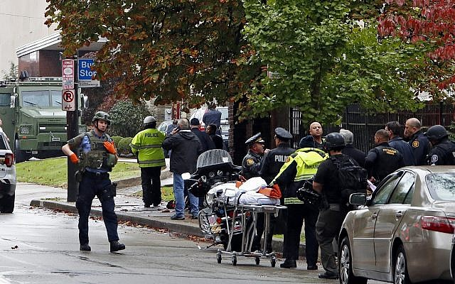 Yelling 'all Jews must die,' gunman opens fire in Pittsburgh
