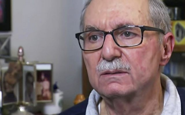 In this October 28, 2018 frame from video, Barry Werber describes how he survived the Pittsburgh synagogue shooting during an interview, in Pittsburgh, US. (AP Photo/Robert Bumsted)