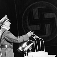 Illustrative: Nazi leader Adolf Hitler delivers a speech in Berlin, on September 28, 1937. (AP Photo)