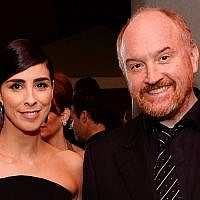 Sarah Silverman, and Louis C.K. attend the Governors Ball after the Oscars on February 28, 2016, at the Dolby Theatre in Los Angeles. (PAl Powers/Invision/AP)