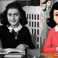 Illustrative: Anne Frank in a photograph at her grammar school in Amsterdam, and a similar image in 'Anne Frank's Diary: The Graphic Adaptation,' published in English in 2018 (courtesy: Anne Frank Fonds)