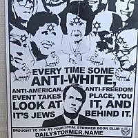 Anti-Semitic fliers were found at two University of California campuses as well as at Vassar College on October 8, 2018. (StandWithUs via JTA)