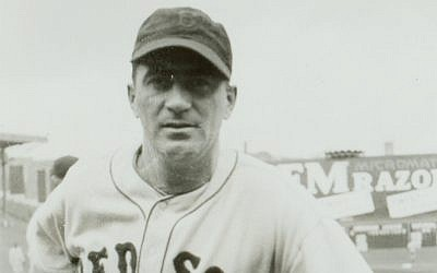 Moe Berg at Fenway Park, 1936. Original in Cold Storage, June Friest Collection. (National Baseball Hall of Fame and Museum)