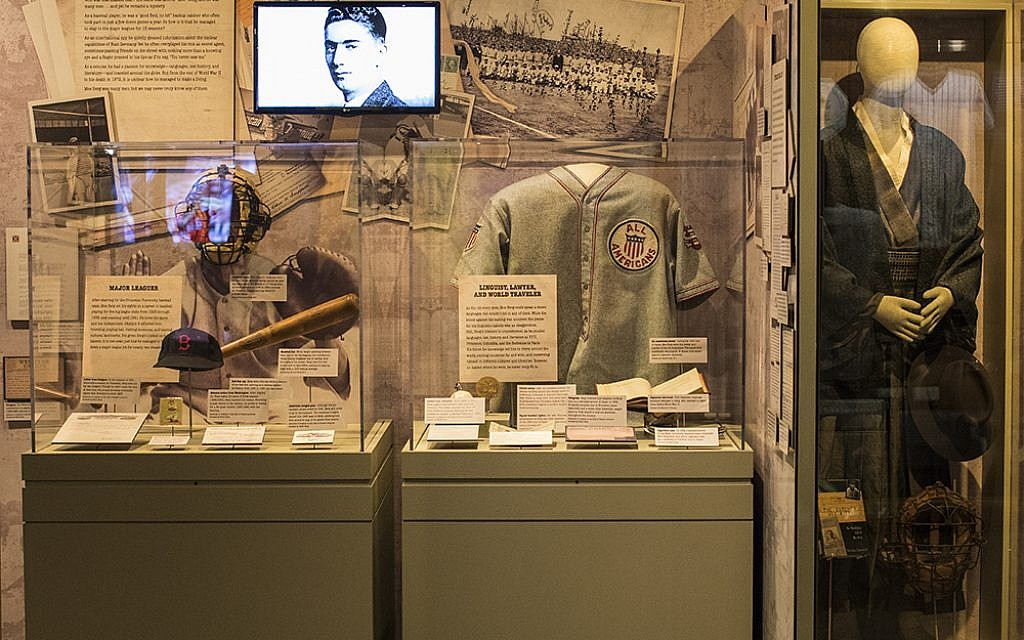 The 'Moe Berg: Big League Spy' exhibit. (Milo Stewart Jr./National Baseball Hall of Fame and Museum)