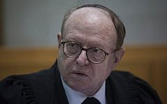 Prime Minister Binyamin Netanyahu's lawyer Dr. Yaakov Weinroth seen in the Supreme Court in Jerusalem on February 24, 2014. (Yonatan Sindel/Flash90)