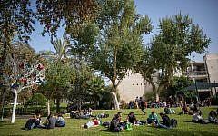Illustrative image of students at the Rehovot Campus of Hebrew University, on January 22, 2018. (Miriam Alster/FLASH90)