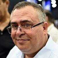 MK David Bitan speaks with supporters at a Likud party event in Tel Aviv, September 6, 2018. (Gili Yaari/FLASH90)