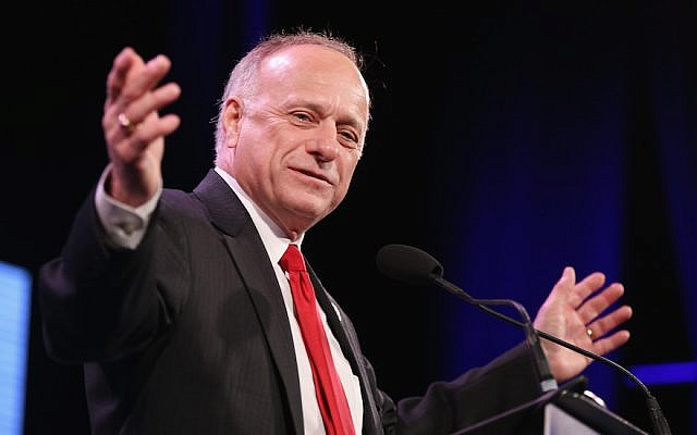 Iowa Representative Steve King speaks to guests at the Iowa Freedom Summit in Des Moines, on January 24, 2015. (Scott Olson/Getty Images)