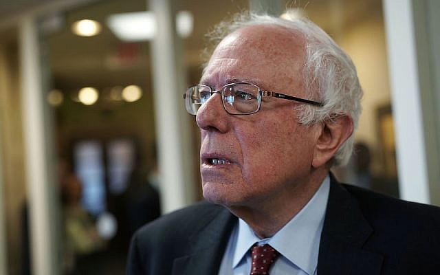 US Sen. Bernie Sanders (Independent, Vermont) arrives at a news conference at the Capitol in Washington, DC, March 7, 2018. (Alex Wong/Getty Images)