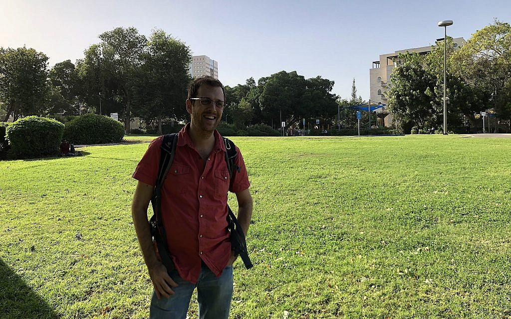 Tour guide and researcher Dotan Brom will lead several tours on gay life in Haifa at the Haifa Story Festival, beginning this Thursday, November 1, 2018 (Jessica Steinberg/Times of Israel)