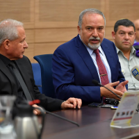 Defense Minister Avigdor Liberman speaks at the Knesset's Foreign Affairs and Defense Committee meeting on October 22, 2018. (Ariel Hermoni/Defense Ministry)
