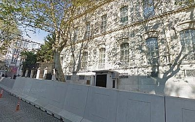 Screen capture of the Iranian embassy in Istanbul, Turkey. (Google maps)