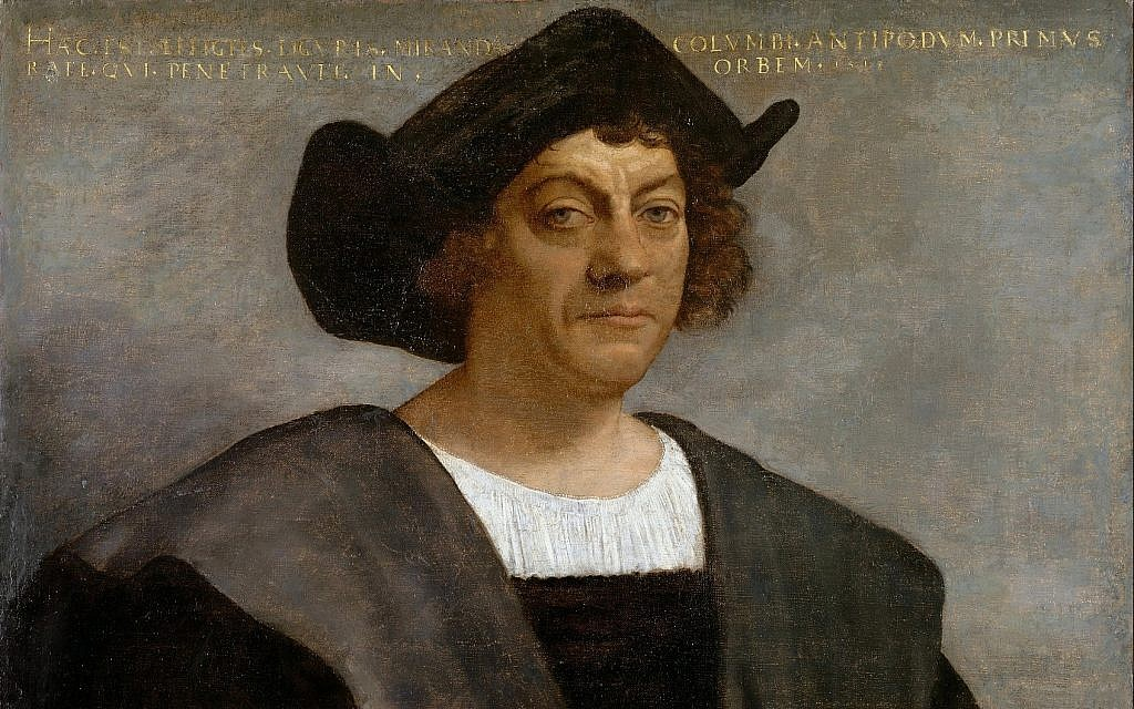 Portrait of a man thought to be Christopher Columbus by Sebastiano del Piombo, 1519.(public domain)