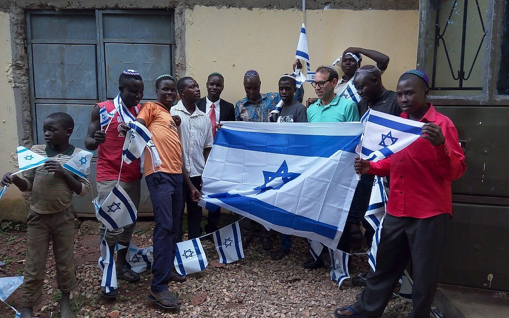 Jews from the Ugandan Abayudaya community participating in the Shabbat Project. (Courtesy)