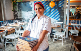 Chef Einat Admony in the latest reincarnation of Balaboosta, her latest project in New York (Courtesy Balaboosta)