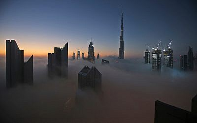 The sun rises over the Dubai skyline with the Burj Khalifa, the world's tallest building at 830 meters, at the backdrop. The number of skyscrapers worldwide has exploded in recent years. (AP Photo/Kamran Jebreili)