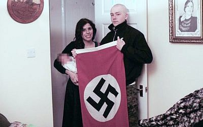 Adam Thomas and Claudia Patatas, accused neo-Nazis living in the UK who named their baby after Hitler. (West Midlands Police via BBC)