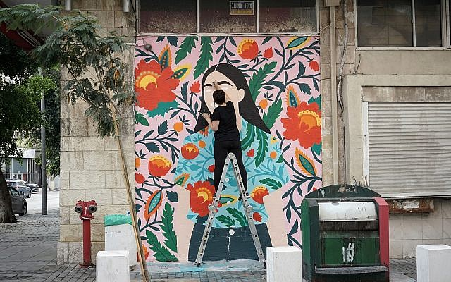 From the 2017 Walls Festival in Haifa, which brings artists to create murals for the city's neighborhoods (Courtesy Walls Festival)