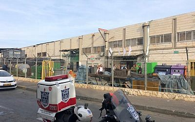 Barkan industrial zone factory where a Palestinian worker killed two Israelis and injured a third, on October 7, 2018. (Zaka)