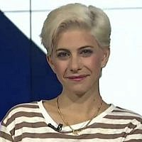 Dafna Lustig, the TV presenter who publicly announced she had been sexually harassed years earlier by a well-known Israeli chef (Israeli Broadcasting Corporation/CC BY-SA 4.0)