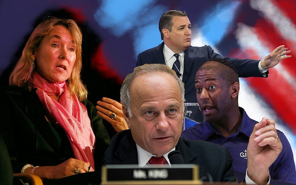 Candidates for the 2018 midterm elections (JTA collage/Getty Images)