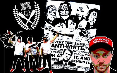 The Stormer Book Clubs took credit for anti-Semitic fliers that appeared across the country last week. (Anti-Defamation League/JTA Collage)